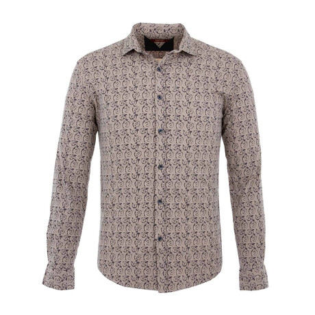 Kevin Long Sleeve Button Up Shirt // Beige (S)