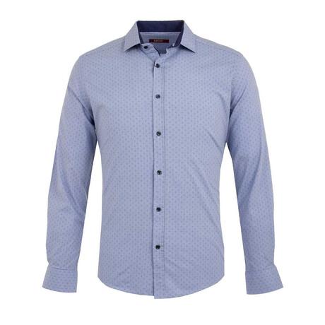 Austin Long Sleeve Button Up Shirt // Blue (S)