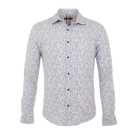 Otto Long Sleeve Button Up Shirt // White (S)