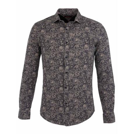 Gabe Long Sleeve Button Up Shirt // Beige (S)