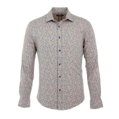 Harrison Long Sleeve Button Up Shirt // Beige (S)