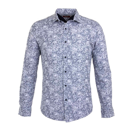 Andrew Long Sleeve Button Up Shirt // Blue (S)