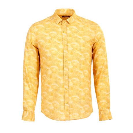 Justin Long Sleeve Button Up Shirt // Yellow (S)
