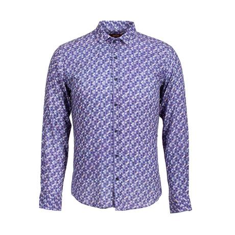 Erik Long Sleeve Button Up Shirt // Dark Blue (S)