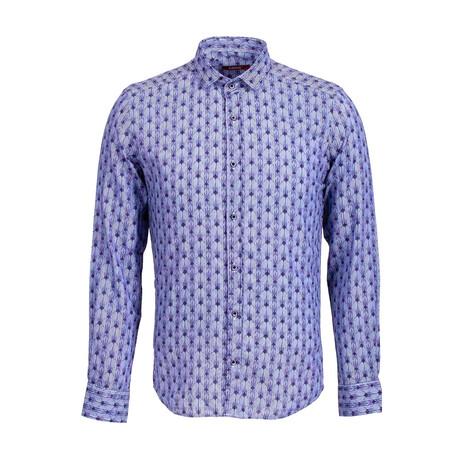 Louie Long Sleeve Button Up Shirt // Dark Blue (S)