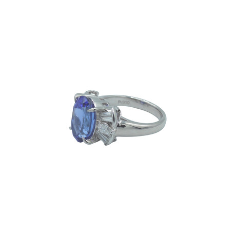 Platinum Diamond + Tanzanite Ring // Ring Size: 5.75 // Pre-Owned