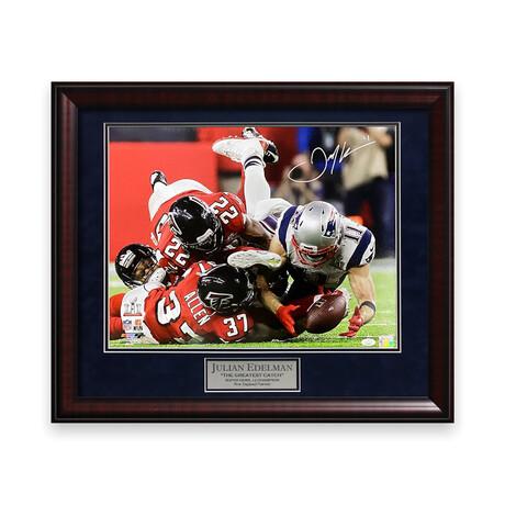 Julian Edelman // New England Patriots // Signed + Framed Photograph