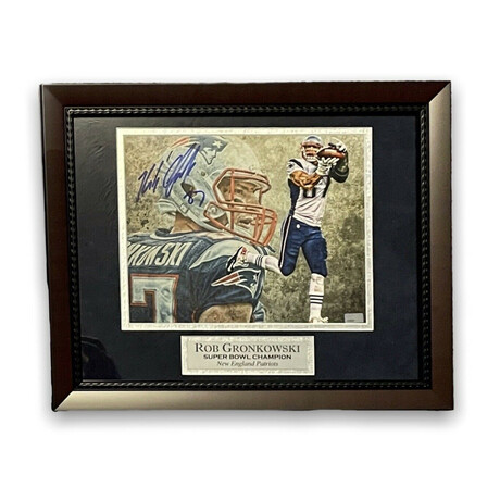 Rob Gronkowski // New England Patriots // Signed + Framed Photograph