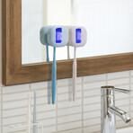 UV-C Toothbrush Sterilizer // 2-Pack // Blue + White