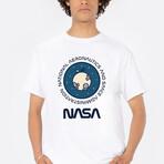 NASA Moon Stickmen Tee // White (Small)