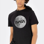 NASA Full Moon Tee // Black (Small)
