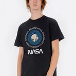 NASA Moon Stickmen Tee // Black (Small)