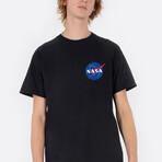 Original NASA Logo Heart Tee // Black (Small)