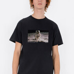 First Man On The Moon Tee // Black (Small)