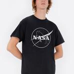 Black + White NASA Logo Tee // Black (Small)