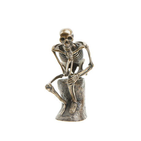 The Thinker (Silvered Bronze)