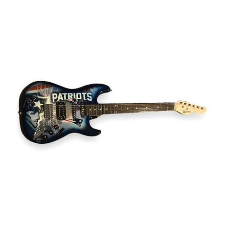 Tom Brady // Signed Electric Woodrow Guitar // New England Patriots // Limited Edition 12/12