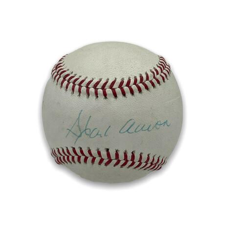 Hank Aaron // Atlanta Braves // Signed Baseball