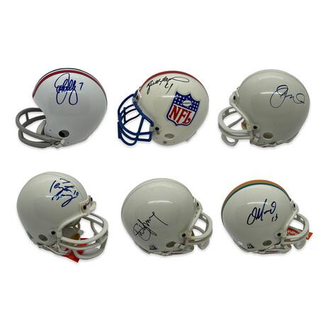 Peyton Manning, Brett Favre, John Elway, Dan Marino, Steve Young & Joe Montana // Legendary Quarterbacks // Signed Mini Helmet Lot