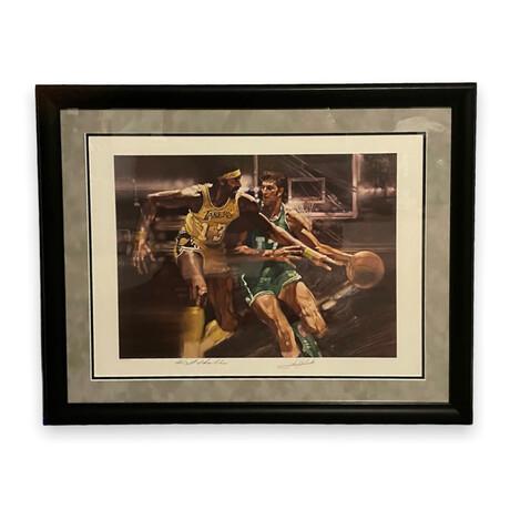 John Havlicek & Wilt Chamberlain // Los Angeles Lakers & Boston Celtics // Signed Photograph // Limited Edition 306/1000