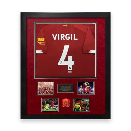 Virgil Van Dijk // Liverpool // Signed Jersey + Framed
