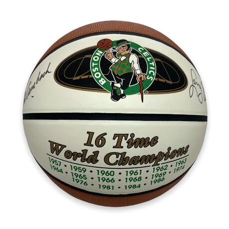 Larry Bird & Red Auerbach // Boston Celtics // Signed Basketball