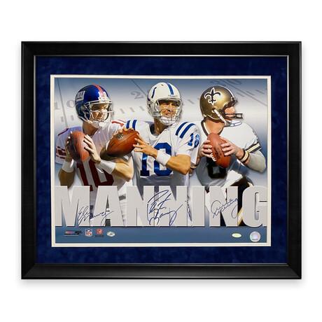 Archie, Peyton & Eli Manning // Signed + Framed Photograph