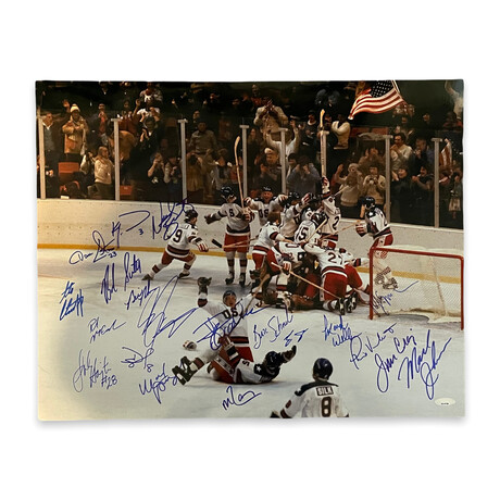 """USA Hockey Team // """"Miracle On Ice"""" // Signed Photograph"""