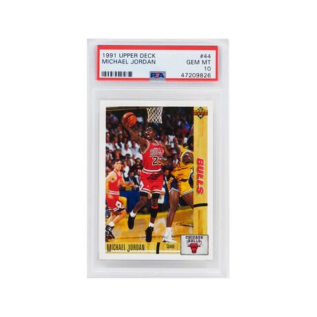 Michael Jordan (Chicago Bulls) 1991 Upper Deck Basketball #44 Card - PSA 10 GEM MINT (New Label)
