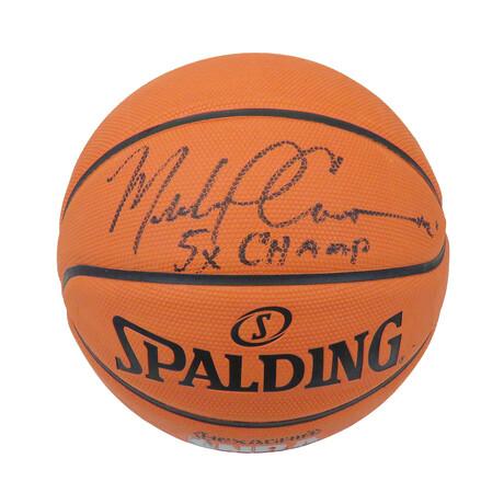 Michael Cooper Signed Spalding NBA Hexa-Grip Basketball w/5x Champs