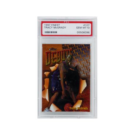 Tracy McGrady (Toronto Raptors) 1997 Topps Finest Basketball #107 RC Rookie Card - PSA 10 GEM MINT