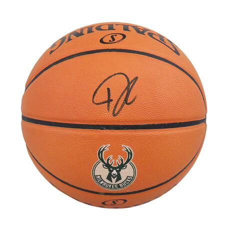 Giannis Antetokounmpo // Signed Spalding Milwaukee Bucks Basketball