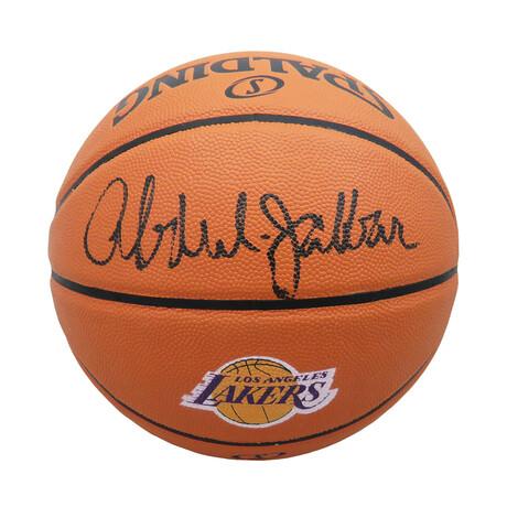 Kareem Abdul-Jabbar Signed Spalding Los Angeles Lakers Logo Game Series NBA Basketball