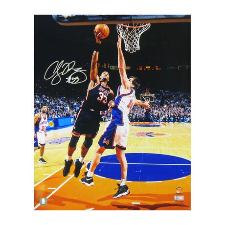 "Alonzo Mourning // Signed Miami Heat Action Photo // 16"" 20"""