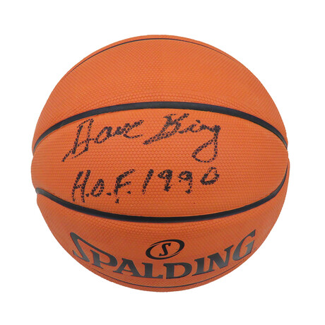 "Dave Bing // Signed Spalding NBA Basketball // ""HOF 1990"" Inscription"