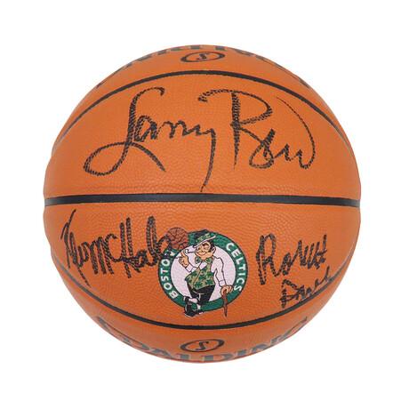 Larry Bird, Kevin McHale & Robert Parish // Signed Spalding Boston Celtics NBA Basketball