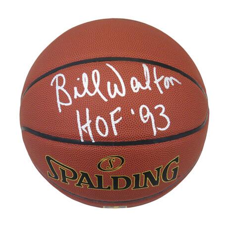 """Bill Walton // Signed Spalding Basketball // """"HOF'93"""" Inscription"""