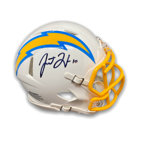 Justin Herbert // Los Angeles Chargers // Signed Mini Helmet