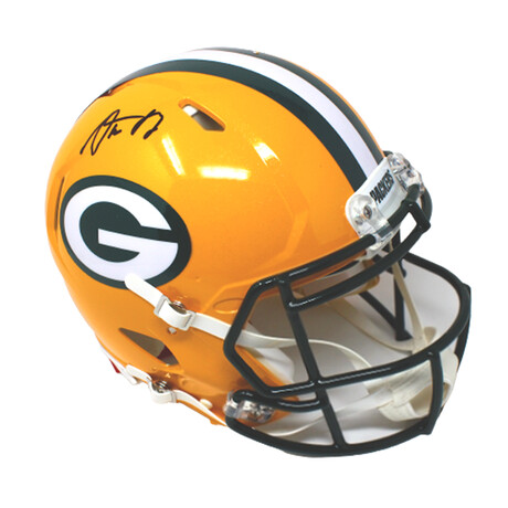 Aaron Rodgers // Green Bay Packers // Signed Speed Authentic Helmet