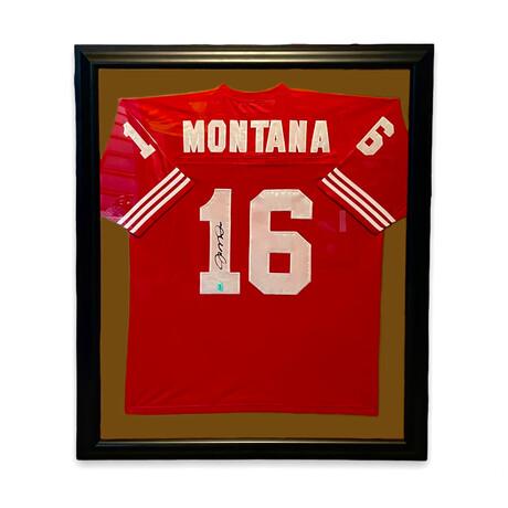 Joe Montana // Signed Jersey + Framed // San Fransisco 49ers