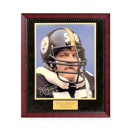 Jack Lambert // Pittsburgh Steelers // Signed + Framed Photograph