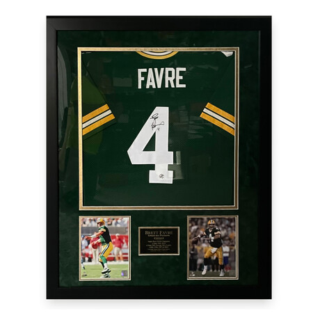 Brett Favre // Green Bay Packers // Signed + Framed Jersey