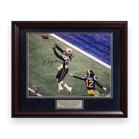 Stephon Gilmore // New England Patriots // Signed + Framed Photograph