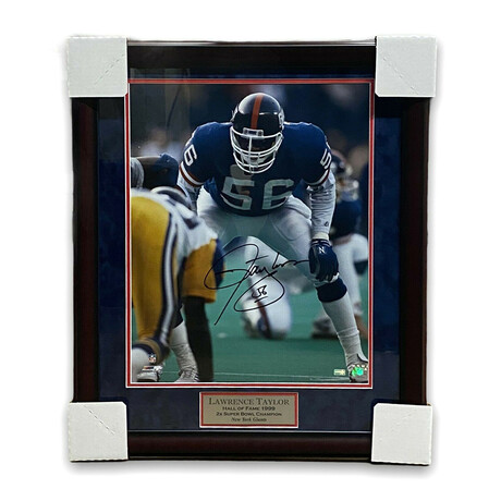 Lawrence Taylor // New York Giants // Signed + Framed Photograph