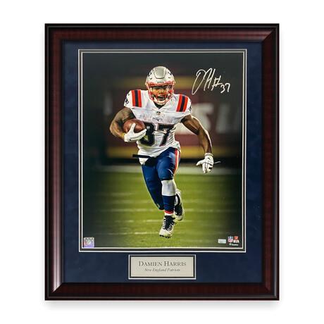 Damien Harris // New England Patriots // Signed + Framed Photograph