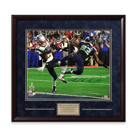 Malcolm Butler // New England Patriots // Signed + Framed Photograph