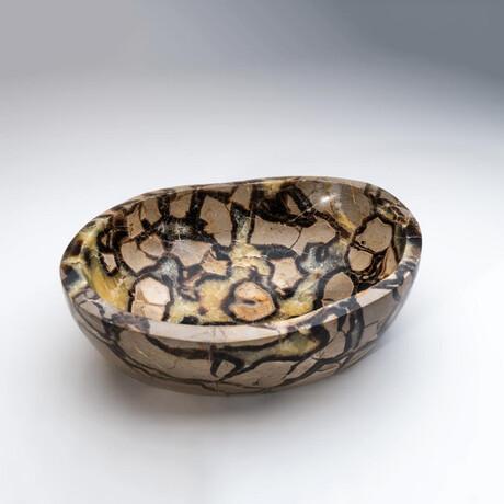 Genuine Polished Septarian Bowl