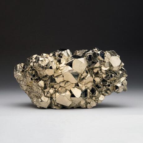 Genuine Natural Pyrite Cluster
