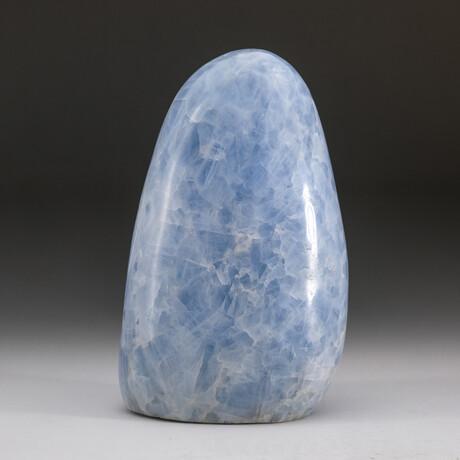 Genuine Polished Blue Calcite Freeform V2