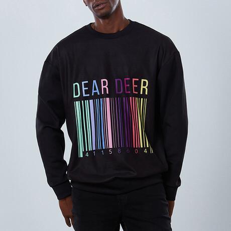 Barcode Sweatshirt // Black (S)